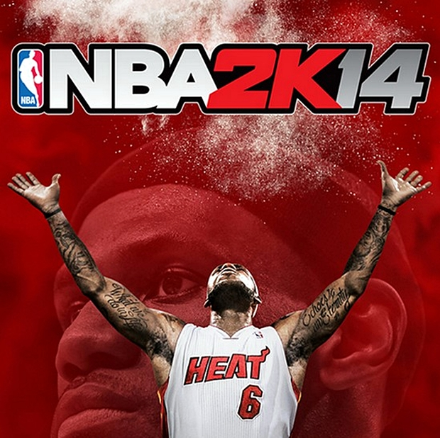 NBA 2K14 Cover Featuring LeBron James