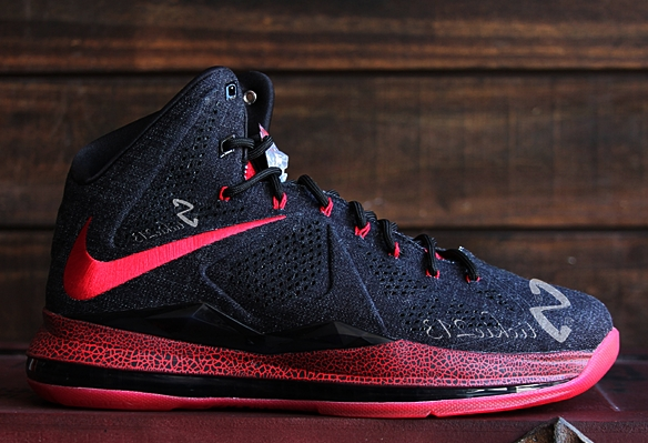 Nike LeBron X EXT Black Denim PE