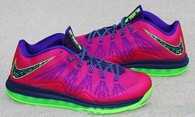 "Nike LeBron X Low ""Red Plum"""