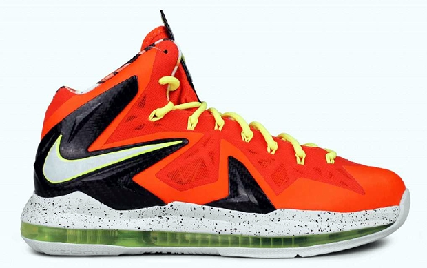 Nike LeBron X P.S Elite Total Crimson/Fiber Glass-Black