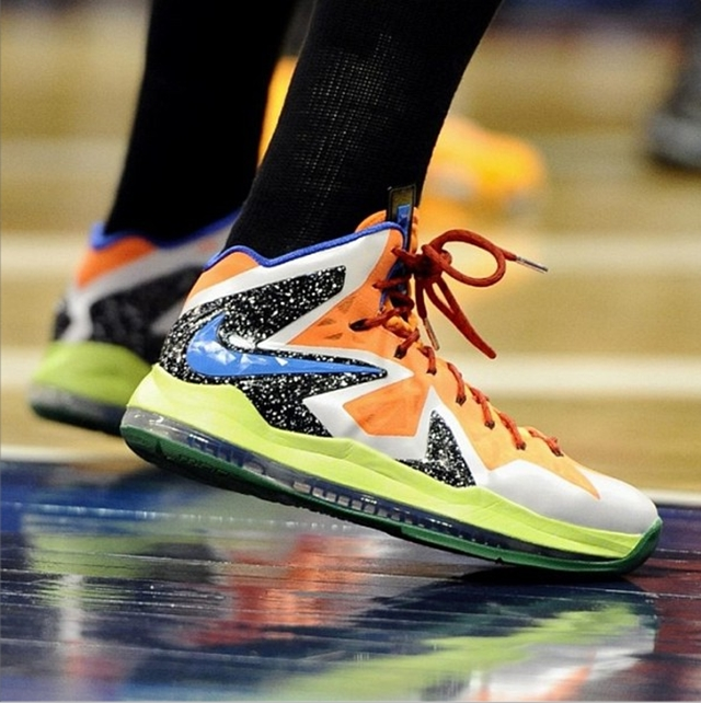 Diana Taurasi Sports Nike LeBron X Elite PE In 2013 WNBA All-Star Game