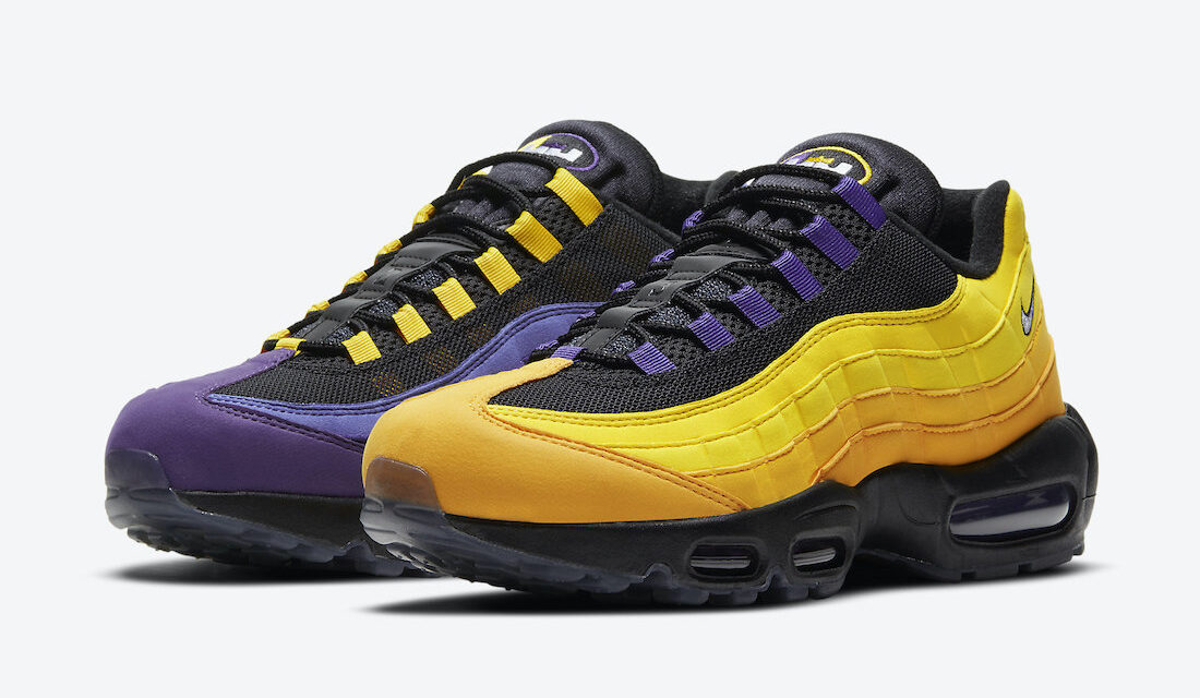 Nike LeBron Air Max 95 Home Team Lakers CZ3624-001 Release Date