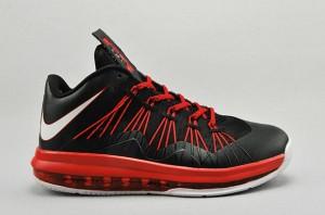 Nike Air Max LeBron X Low Total Crimson (Release Reminder: Nike LeBron X Low Black Total Crimson)