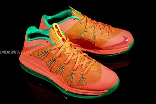 """Nike LeBron X Low: A Detailed Look At The """"Watermelon"""" Edition"""