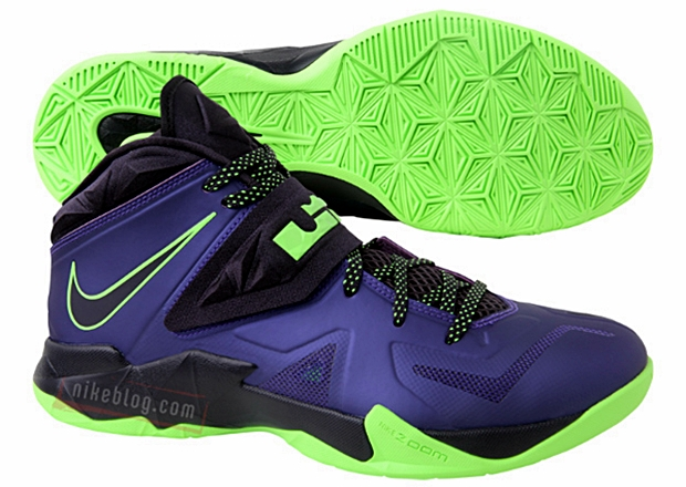 Nike Zoom Soldier 7 Court Purple / Blueprint - Flash Lime