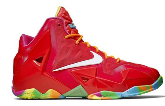 "Release Reminder: Nike LeBron 11 ""Fruity Pebble"""